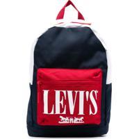 Levi'S Kids Mochila Color Block Com Logo - Azul
