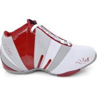 Tênis De Basquete D&R Shoes Masculino - Masculino-Branco+Vermelho