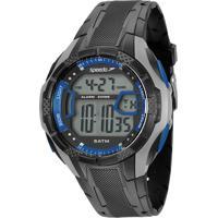 Kit De Relógio Digital Speedo Masculino + Carregador Portátil - 81141G0Evnp7K Chumbo