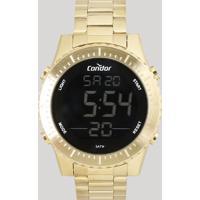 Relógio Digital Condor Masculino - Cobj3463Aa4D Dourado - Único