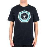 Camiseta Vissla Septa Stripe - Masculino-Preto