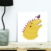 Placa Decorativa - Littledino Yellow