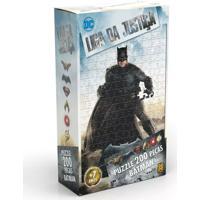 Quebra-Cabeça - 200 Peças - Dc Comics - Liga Da Justiça - Batman - O Filme - Grow - Unissex-Incolor
