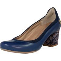 Sapato Levezza Scarpin Azul