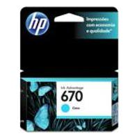 Cartucho Hp 670 3,5Ml Ciano Original Cz114Ab