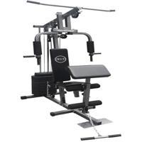 Estação De Musculação Com 80Kg Aparelho Ginástica Academia Com Puxador Wct Fitness - Unissex