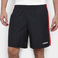 Bermuda Adidas Sp3 Listra Masculina - Masculino-Preto+Vermelho