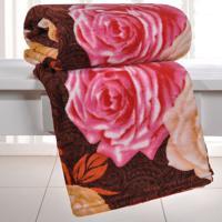 Manta De Microfibra Estampada Casal 1,80M X 2,00M Roses