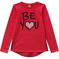 Blusa ''Be You''- Vermelha & Pretakyly