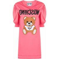 Moschino Vestido Teddy Bear - Rosa