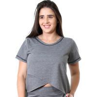 Camisa Galvic Fitness Blusa Moletinho Promoção 9510 Cinza Escuro