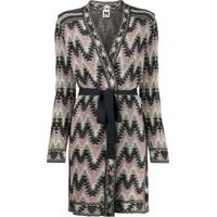 M Missoni Belted Navajo-Style Knitted Coat - Rosa