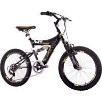 Bicicleta Aro 20 Modelo Xr Full Suspensão 6V Track Bikes