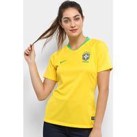 Camisa Seleção Brasil I 2018 S/N° - Torcedor Nike Feminina - Feminino