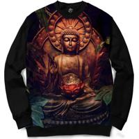 Blusa Bsc Buddha Full Print - Masculino-Preto