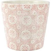 Cachepot Mart Para Decoração Em Cerâmica Branco E Vermelho