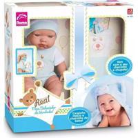 Boneca Bebezinho Menino Real Azul - Roma
