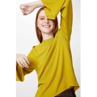 Blusa Gola Alta Amarelo Farol - 34