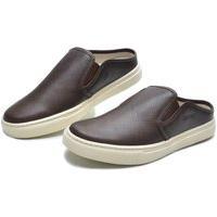 Sapato Masculino Mule De Couro Marrom