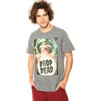 Camiseta Drop Dead Death Space Cinza