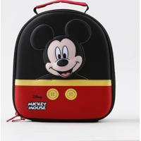Lancheira Térmica Escolar Infantil Mickey Mouse Preta