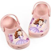 Babuche Bebê Ventor Princesa Sofia Disney Plugt Feminino - Feminino-Rosa