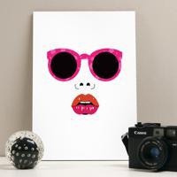 Placa Decorativa - Fashion Face