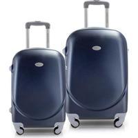 Conjunto De Mala Jacki Design De Viagem 2 Peças Select - Unissex-Azul Escuro