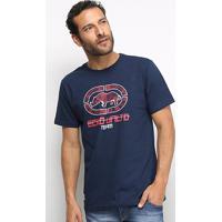 Camiseta Ecko Team Masculina - Masculino-Azul Escuro