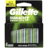 Carga Gillette Mach3 Sensitive Com 4 Unidades