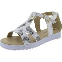 Sandália Infantil Feminina Branco Menina Fashion - 7413