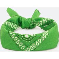 Bandana Verde Com Estampa