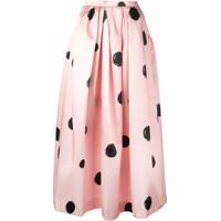 Christopher Kane Full Shape Polka Dot Print Skirt - Black & Pink