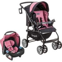 Carrinho Travel System At6 K Touring Evo Burigotto Rosa