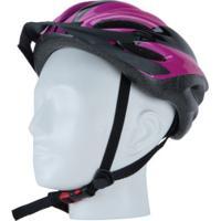 Capacete Para Bike Spin Roller Style - Adulto - Preto/Roxo