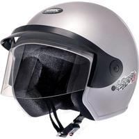 Capacete Moto Aberto Liberty Three 56 Prata - Pro Tork