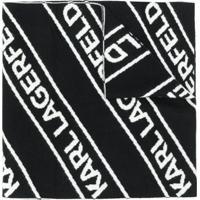 Karl Lagerfeld Cachecol Com Logo - Preto