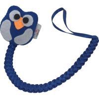 Prendedor De Chupeta Fuxicos & Frescuras Linha Bebê Com Coruja Azul Royal