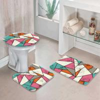 Jogo Tapetes Para Banheiro Abstract Color