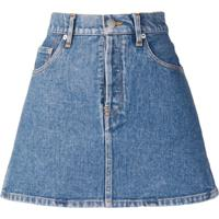 Simon Miller Mini Denim Skirt - Azul