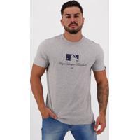 Camiseta New Era Mlb Essentials Cinza Mescla