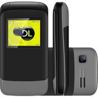 Celular Dl Yc230 Flip Dual Chip Desbloqueado Cinza