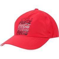 ... Boné Aba Curva Coca-Cola Masculino - Masculino-Vermelho+Preto 62408ef2056