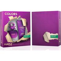 Kit Perfume Feminino Colors Purple Benetton Eau De Toilette 80Ml + Body Lotion 75Ml - Feminino-Incolor