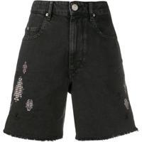 Isabel Marant Étoile Bermuda Jeans Destroyed - Preto