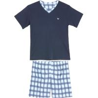 Pijama Masculino Podiun Curto Microfibra Xadrez