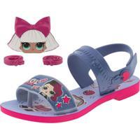 Sandália Infantil Feminina Lol Diva Bag Grendene Kids - 22117 Azul/Rosa 25