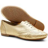 Sapato Oxford Casual Em Couro Feminino Confortável