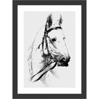 Quadro Decorativo Com Moldura Cavalo I Preto