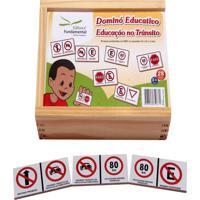 Dominó Educativo Educação No Transito Jogo Com 28 Peças - Fundamental